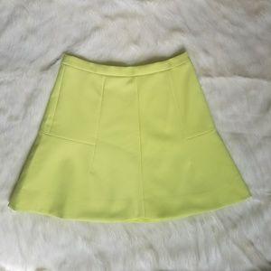 Neon Yellow J Crew Skirt